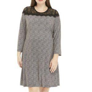 MICHAEL Michael Kors Houndstooth Lace Dress P687
